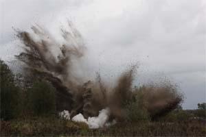Ontploffing van een conventioneel explosief